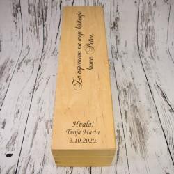 Preklopna drvena kutija s...