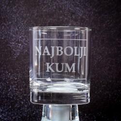 Čaša za whiskey, gravirana...